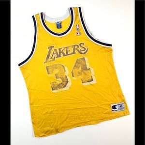 CHAMPION LA LAKERS JERSEY 48 SHAQ SHAQUILLE ONEAL